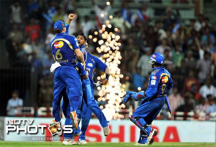 Bangalore batsmen were bundled out for 108 in 19.2 overs for a comprehensive win. Harbhajan Singh was adjudged man of the match and Lasith Malinga was declared man of the series.