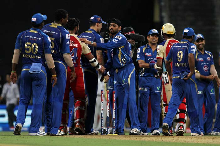 Mumbai Indians, who executed their bowling plans well on Saturday, moved up a rung to the fourth spot in the points table, showed how best one can bowl or bat against the dangerous Royal Challengers Bangalore. (BCCI image)