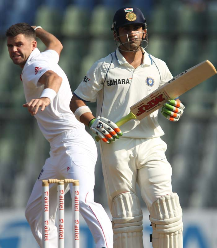 India started with a boundary off the very first ball. In the second, Gautam Gambhir was a dead duck in front of the wicket. James Anderson dealt the first blow with brilliant delivery. (Photo Credit BCCI)