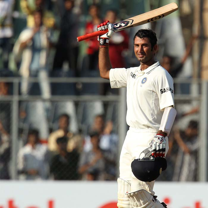 India's 'New Wall in the Making', Cheteshwar Pujara again rose to the occasion to bring up his second century on the trot in the series. England are yet to find a way to send him back. (Photo Credit BCCI)