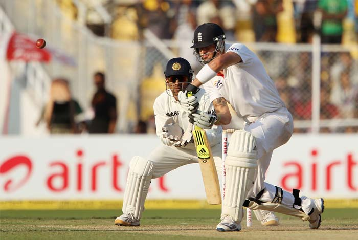 Kevin Pietersen got back to his scoring ways with a 85-ball 62, that had nine hits to the fence. He remained not out. (BCCI Photo)