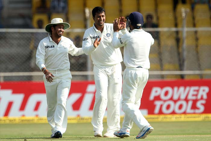 The wicket was supposed to be helpful for the spinners. And though Ashwin and Harbhajan kept the batsmen guessing, it was only Ojha who managed the two English wickets of the day. (BCCI Photo)