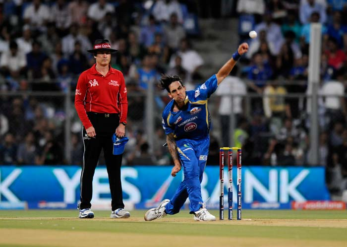 Mitchell Johnson conceded 18 runs in the first over of the match, and went for 43 in his 4 overs. (BCCI image)