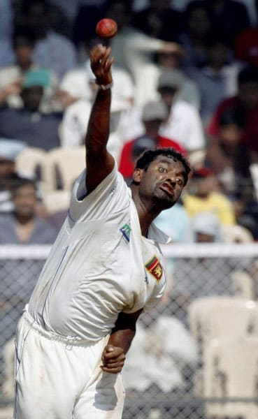 Murali has picked maximum number of wickets against England. He has played 16 Tests against England picking 112 wickets. (PTI PHOTO)