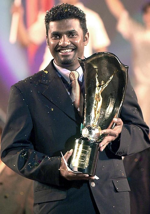 Muratharan has been honoured with several awards over the years. Alongside being the ICC player of year, he has been twice chosen as Wisden's leading cricketer of the year in 2000 and 2006.<br><br> Murali has picked 485 wickets in Sri Lanka while 307 away from home. However, his best bowling performance of 16/220 came against England in 1998.<br><br> He has so far 66 five-wicket hauls, while 22 10-wicket match hauls.