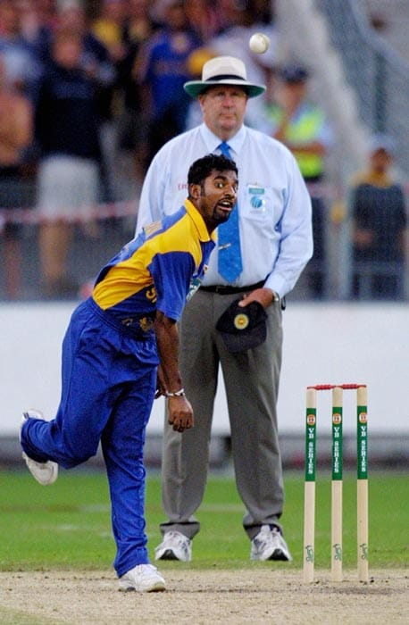 In what was the most distressing moment of his career, Australian umpire Darrell Hair called Muralitharan for throwing or chucking the ball while playing in a Test match in 1995.<br><br> The off-spinner, was no-balled seven times in three overs by Hair, who believed the then 23-year old was bending his arm and straightening it in the process of delivery, which amounted to chucking and was an illegal action in cricket.<br><br> Muralitharan's action was cleared by the ICC after bio-mechanical analysis at the University of Western Australia and at the University of Hong Kong in 1996. They concluded that his action created the 'optical illusion of throwing'.