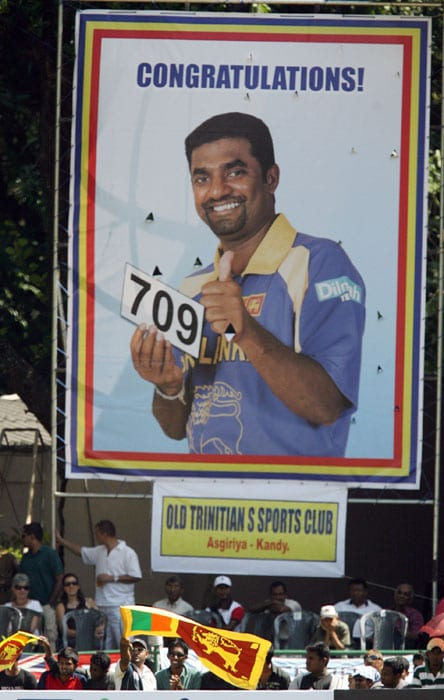 After completing 600 wickets, Murali played just 12 more Tests to count his 700th Test victim in 2007. Same year, he dethroned leg-spin legend Shane Warne to become the highest wicket-taker of all times with 709 wickets.