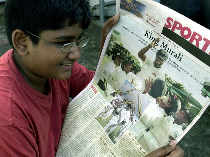 In April 2004, Murali was instructed by the ICC to stop bowling his <i>Doosra</i>, after he was reported by Chris Broad. But that did not deter the champion at all. Within a month he surpassed Courtney Walsh's record of 520 Test wickets.