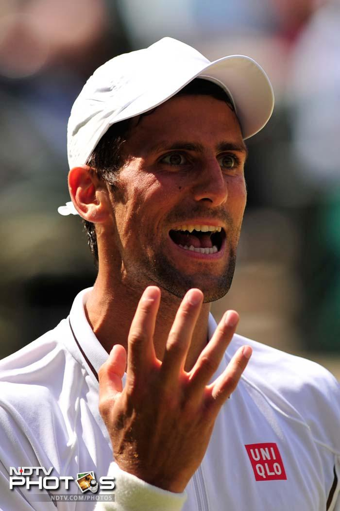 Not much was going for Djokovic as he had lost all his challenges before the second set ended.