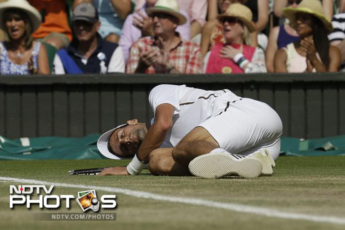 Djokovic slipped and turned and fell more than once in the first set itself, making him vulnerable and unsure of usually solid baseline play.