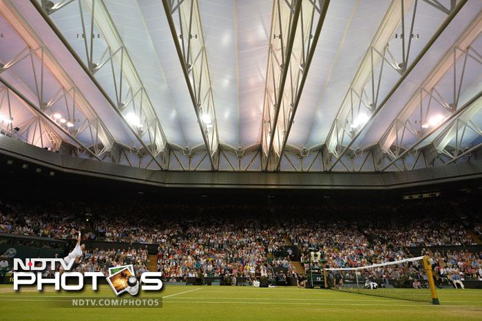 """""""This is an outdoor event and I believe you should play as much as possible outdoors. <br> """"I had 20 minutes, took a shower and got back to work. He was on his phone to someone. That's the way he is, he plays loose on the court as well. <br> """"I'm delighted. He's very talented and unpredictable, he's got a huge serve and he didn't give me much rhythm. <br> """"But after I got back from 1-4 down in the third set I felt the momentum was with me."""""""