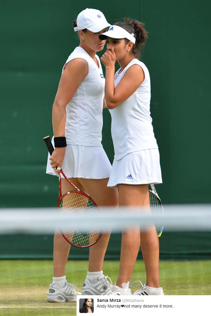 Sania Mirza (@MirzaSania): Andy Murray?not many deserve it more..