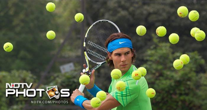 Nadal's wax figure is also placed at the Madame Tussauds Wax Museum in Amsterdam. (AFP Photo)