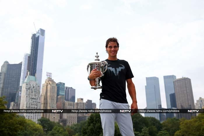 A day after winning the US Open 2013 title, Rafael Nadal was a rejuvenated man, beaming under the clear blue skies of New York City.<br><br>Take a look at the Spaniard king of tennis and his date with NYC. <br><br>Images courtesy AFP.
