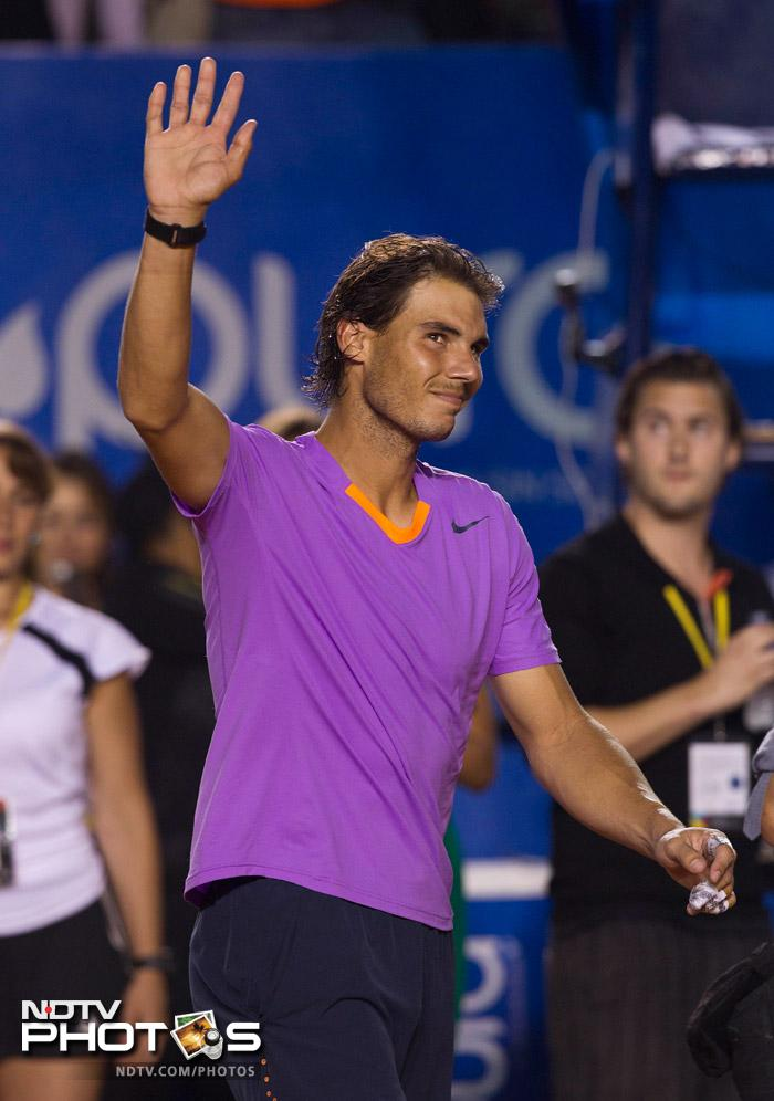 Nadal, it seems, has made a habit of beating Davids in the tournament finals. He beat Argentine David Nalbandian for Brasil Open title and now hammering World No.4 David Ferrer for the Mexican open crown.