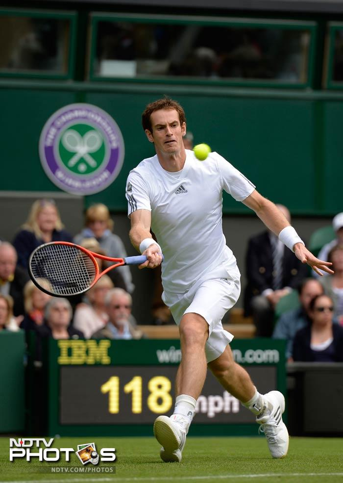 As many as four Brits crashed out in the first few hours of their 'home' tournament, but Andy Murray reversed the trend. The second seed beat Germany's Benjamin Becker 6-4, 6-3, 6-2.