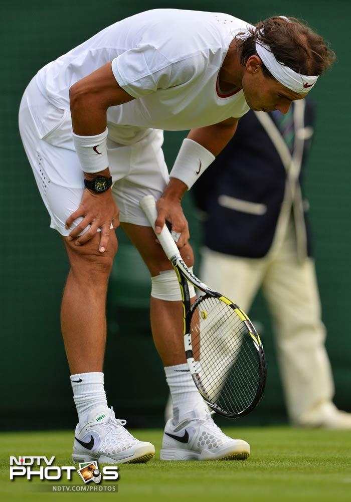 Seeded a lowly fifth at Wimbledon, Rafael Nadal suffered his first ever loss in the first round of a Grand Slam. Nadal was outplayed and outsmarted by the unseeded Steve Darcis, crashing to a 6-7, 6-7, 4-6 defeat.