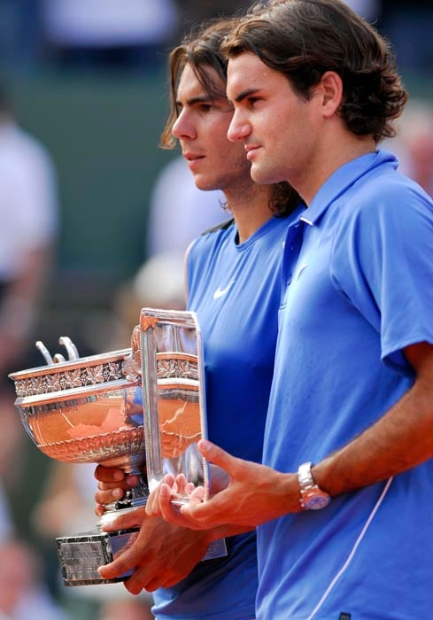 <b>2006: bt Roger Federer (SUI) 1-6, 6-1, 6-4, 7-6 (7/4)</b><br><br> Nadal scuppers Federer's bid to complete his Grand Slam collection by taking his second straight French Open title, coming back from a set down to beat the Swiss. Had he won, Federer would have become the first man to achieve a Grand Slam since Rod Laver in 1969. The victory extended 20-year-old Nadal's winning streak on clay to 60 matches with the 100th victory of his career on the surface.