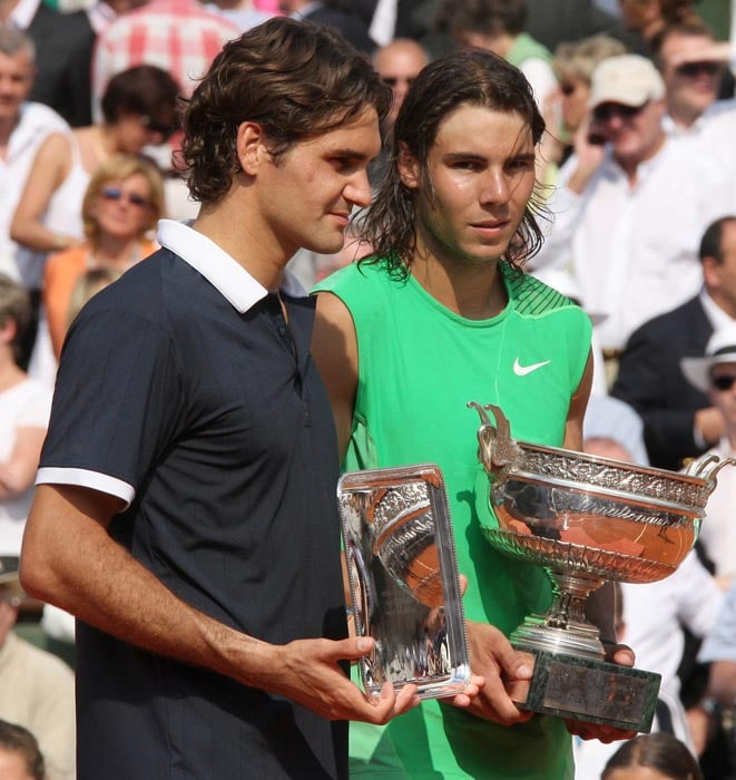 <b>2008: bt Roger Federer (SUI) 6-1, 6-3, 6-0</b><br><br> Another final gets added to the Roger-Rafa rivalry, arguably the greatest rivalry in tennis history. Nadal defeats Federer in the French Open final for the third year running, joining Borg as the only man to win four straight titles at Roland Garros. The Spaniard scores a stunning triumph over the world No.1, taking the last nine games of the match. It is the most one-sided final in Paris since 1977. The 22-year-old Nadal wins the title without dropping a set.