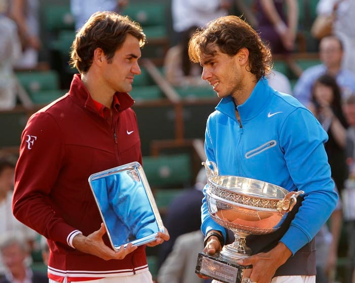 <b>2011: bt Roger Federer (SUI) 7-5, 7-6 (7/3), 5-7, 6-1</b><br><br> Nadal goes into Roland Garros on a dip with back-to-back claycourt losses to Novak Djokovic, prompting many to question his favourite tag for the first time in many years. However, after a five-set opening struggle against John Isner, he goes from strength to strength. In his fourth French Open final against Federer, who beats Djokovic in the semi-finals, the Spaniard hits back from 2-5 in the first set to win in four tough sets. He thus equals Bjorn Borg's record of six wins in Paris.