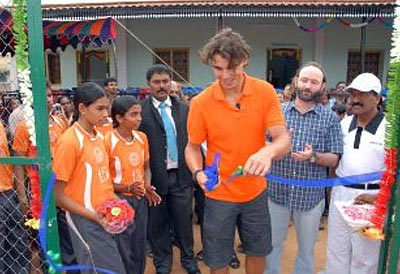 Nadal also visited some nearby villages where the NGO runs centres for the visually-challenged and hearing-impaired and children with other disabilities.