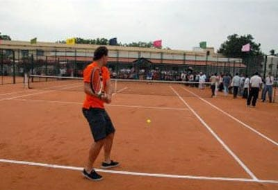 As of now the academy has three international class clay courts and Nadal inaugurated the central court.