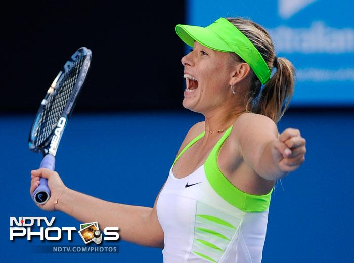 Sharapova set up a final against Victoria Azarenka at Rod Laver Arena, a match that will also decide the No. 1 ranking.