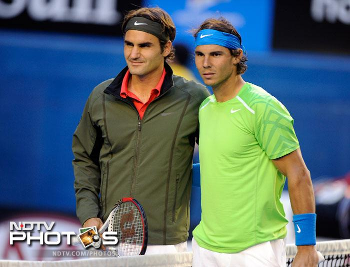 Even though it was a semi-final the anticipation for a classic from Roger Federer and Rafael Nadal is probably bigger than any other tennis clash. (All AFP and AP Images)