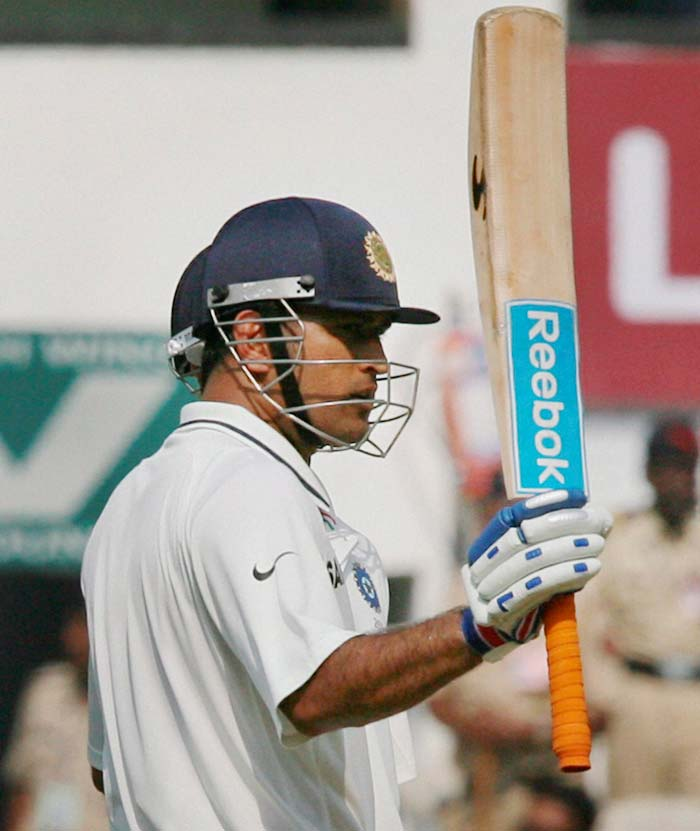 Skipper Dhoni too completed his fifty soon after, his coming off 137 with seven boundaries. (PTI image)