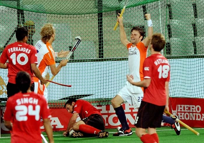 The Dutch are at the top of the Pool A with nine points from three matches. Canada are out of contention for a semifinal berth with their third successive loss. (AFP Photo)
