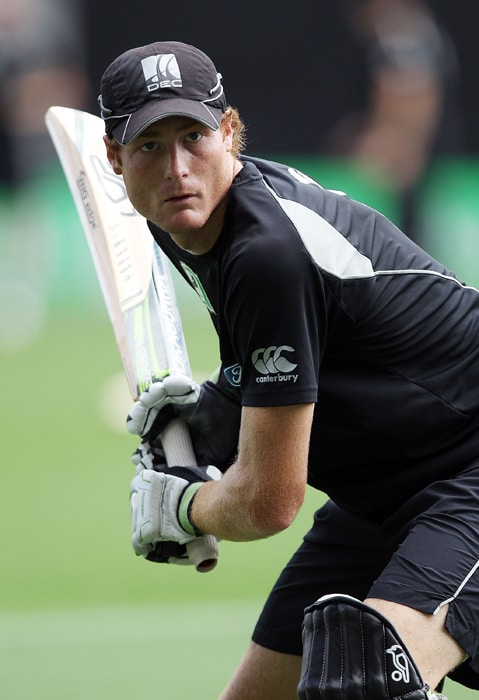 <b>MARTIN GUPTILL</b><br><br> <b>Age: </b>24.<br><b>Role: </b>Right-hand batsman, right-arm off-break<br> <b>Stats: </b>ODIs 44, Runs 1,310, Highest 122 not out, Average 34.47, Strike-Rate 82.44, Centuries 1, Fifties 9, Catches 18, Wickets 2, Best bowling 2-7, Average 26.50, Economy-Rate 5.89<br><br> Posted his highest score in his first international against the West Indies in 2009. Consistently gets a start but has a tendency to throw his wicket away. A useful spin bowling option when required to break up a stubborn partnership.(Photo : Getty Images)
