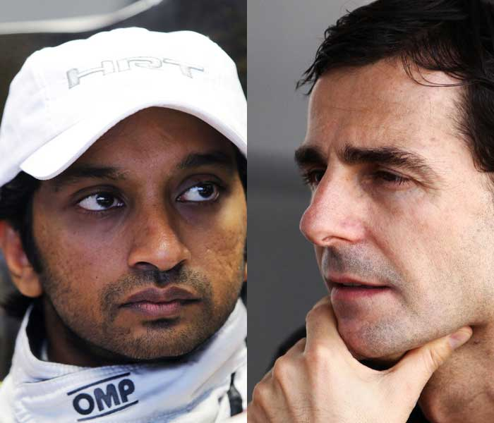 <b>Hispania Racing Team:</b> Despite replacing Narain Karthikeyan (L) with Daniel Ricciardo midway through the last season, HRT has chosen to keep the Indian in its line-up for 2012. They have instead opted to replace Italian Vitantonio Liuzzi with Pedro de la Rosa (R) of Spain.