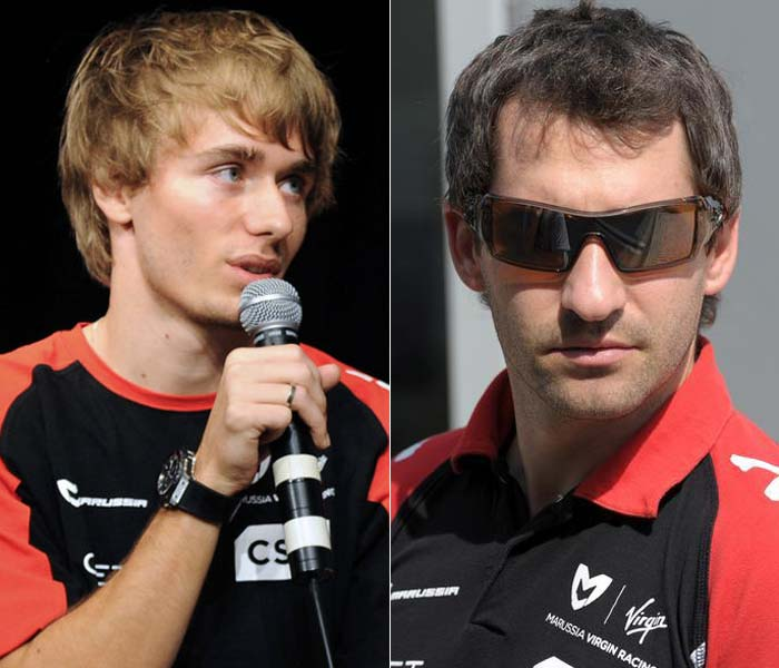<b>Marussia:</b> The bottom of the table team has kept faith in German Timo Glock (R)but said goodbye to Belgian Jerome d'Ambrosio. Marussia have instead brought in 22-year-old Charles Pic (L) who finished fourth in GP2 in 2011.
