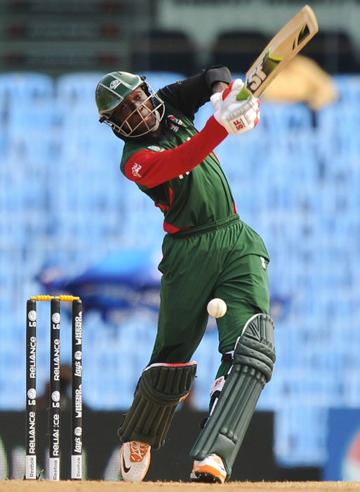 New Zealand were the firm favourites to win the match even before a ball was bowled and it was evident in the way the Kenyan openers started the innings. The duo of Alex Obanda and Seren Waters were slow and cautious to begin with. (AFP Photo)