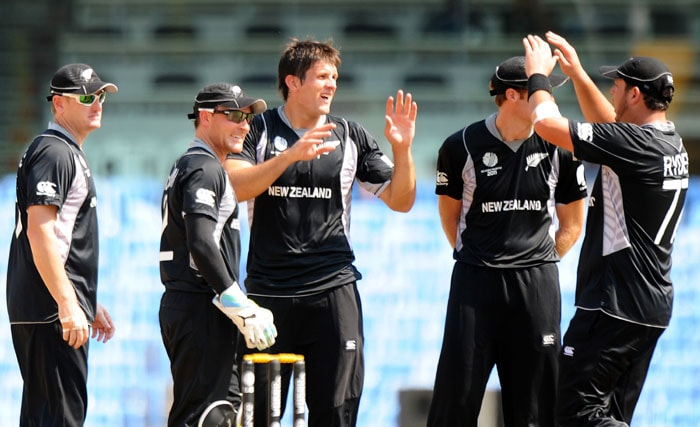 Hamish Bennet, who had debuted for the Kiwis in October 2010 against Bangladesh, took four key wickets to break the backbone of the Kenyan line-up. (AFP Photo)