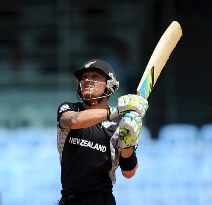 New Zealand opening pair of Brendon McCullum and Martin Guptill started the innings looking to finish things off quickly. (AFP Photo)