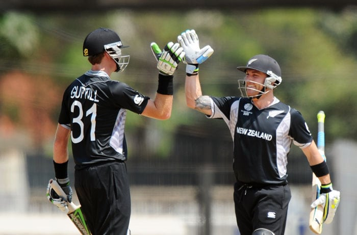 The small Kenyan total of 69 runs never seemed to challenge the Kiwi batsmen and they achieved the target in just 8 overs with all 10 wickets intact. (AFP Photo)