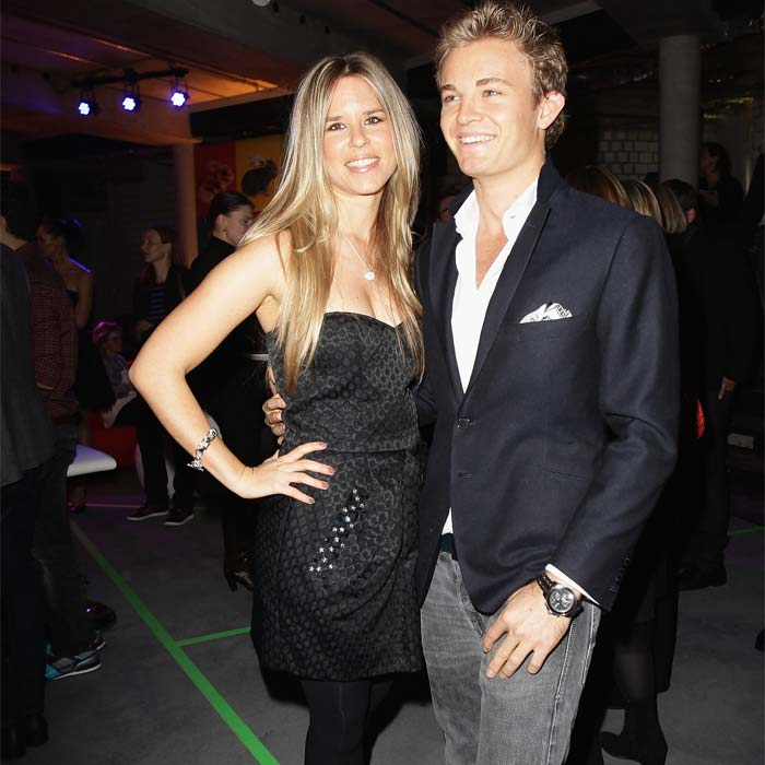 Rosberg set aside all his on-field worries and made the most of the night out with Vivian. (Getty Image)