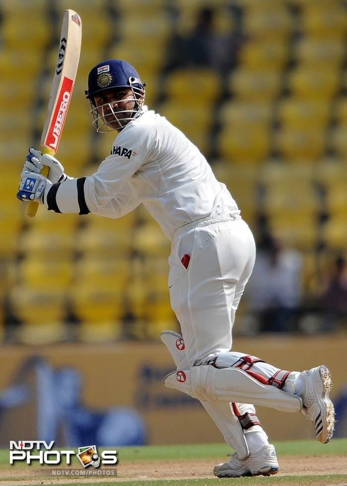 <b>Test 1612:</b> Virender Sehwag was let loose by skipper Ganguly and he bled England with his 106 in the match here in 2002. India notched up 357 in the first innings. England though had their reply to come.