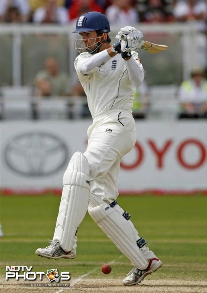 Michael Vaughan's 197 helped the hosts blatently score 617 runs as the Test closed with both teams where they were before it began.