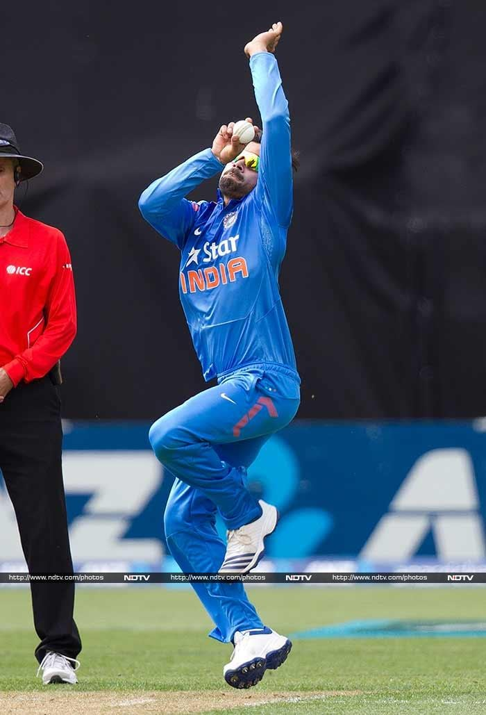 India's bowling woes were exposed once again as Virat Kohli was forced to bowl as many as seven overs. He, however, did claim Brendon McCullum's wicket.