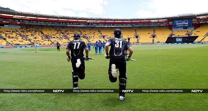 The only success for India in the day came at the toss. Skipper MS Dhoni called it right and invited the Kiwis to bat.