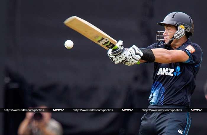 India's joys were short-lived once again as Ross Taylor came to the middle and rebuilt the innings.