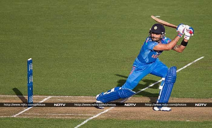 Virat Kohli was the only shining star in the Indian innings and he hit 82 off 78.