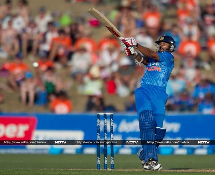 Shikhar Dhawan at the other end looked set for a good knock. He batted sensibly with just the right amount of aggression.