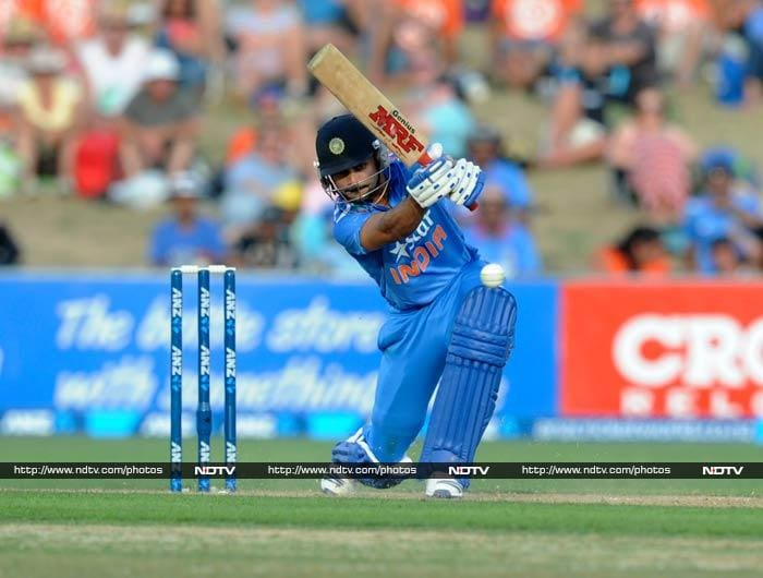 Virat Kohli joined Dhawan and soon took the lead. He helped himself to a half century off just 59 deliveries.