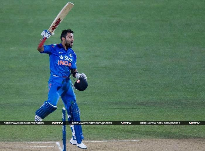 Virat Kohli played a solid knock worth 123. It came off just 111 deliveries but it was not enough to take India past hosts New Zealand in the first of five ODI matches, at Napier. Here are the highlights...<br><br>Images courtesy AFP and AP.
