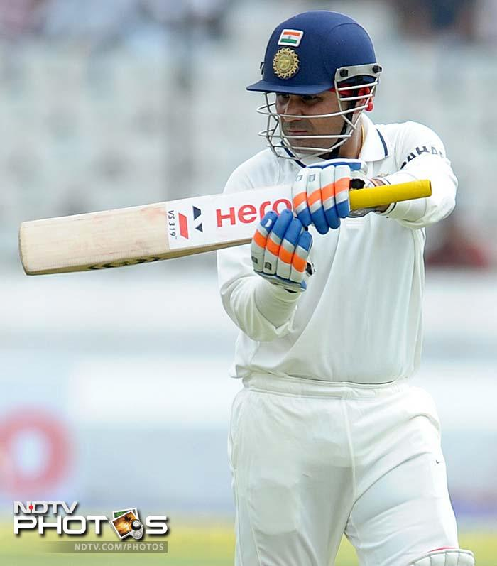 Sehwag though was New Zealand's second victim. He scored 47 before being removed by Doug Bracewell.