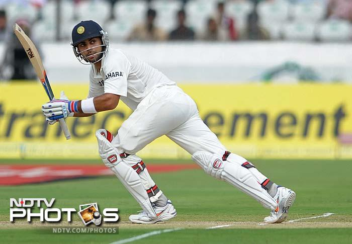 Pujara was supported well by Virat Kohli (58) and the two set the right base for India's innings. The hosts ended the day with Pujara and skipper MS Dhoni at the crease.