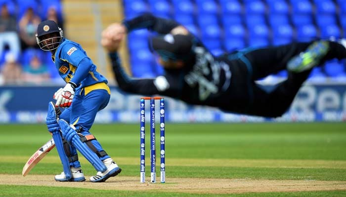 Brendon McCullum got the match off to a sensational start with a tremendous catch off the first ball of the match, getting rid of Kusal Perera.